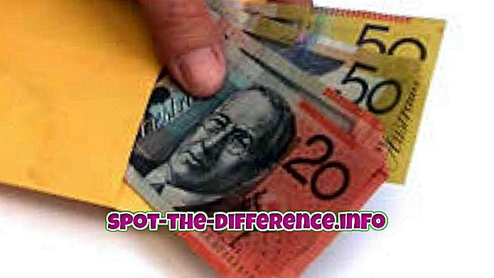 populárne porovnania: Rozdiel medzi mzdou peniazmi a skutočnou mzdou