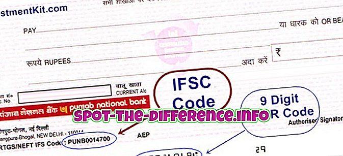 populaarsed võrdlused: Erinevus IFSC koodide ja MICR koodide vahel