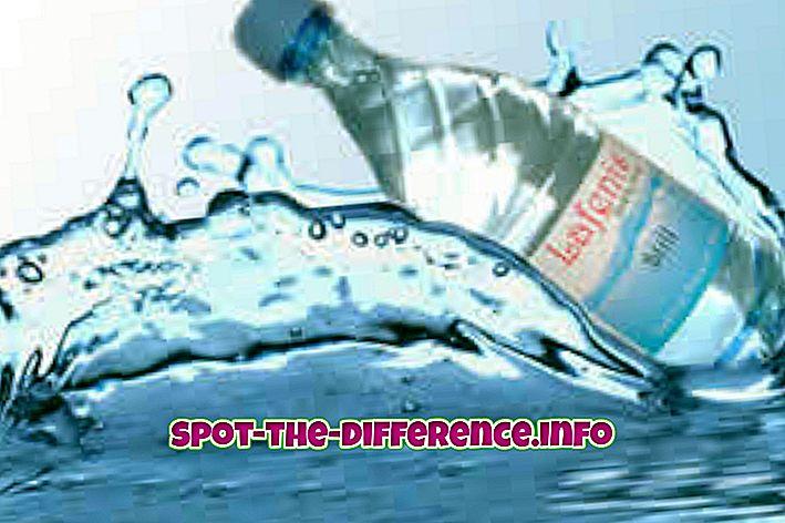 Διαφορά μεταξύ μεταλλικού νερού και φυσικού νερού
