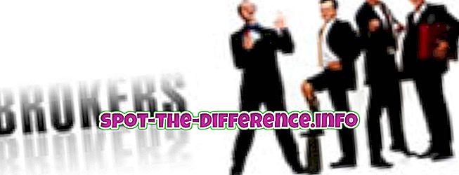 populära jämförelser: Skillnad mellan agent och mäklare