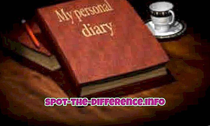 populære sammenligninger: Forskel mellem dagbog og journal