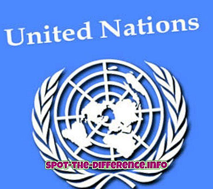 Verschil tussen VN en de NAVO
