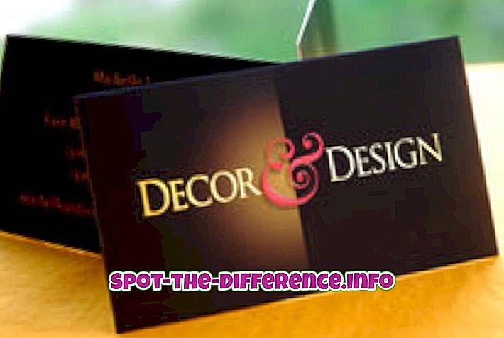 Diferența dintre decoratorul de interior și designerul de interior