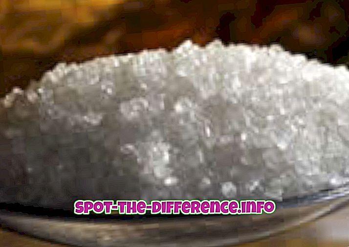 Διαφορά μεταξύ της ζάχαρης και της ζάχαρης των ζαχαροπλαστών