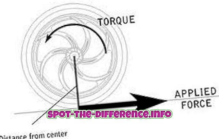 Starpība starp Momentum un Torque