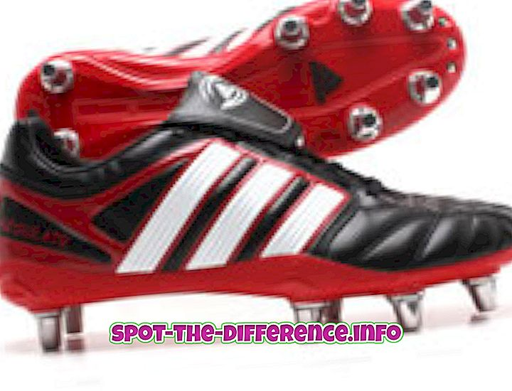 Forskel mellem Soccer and Rugby Cleats