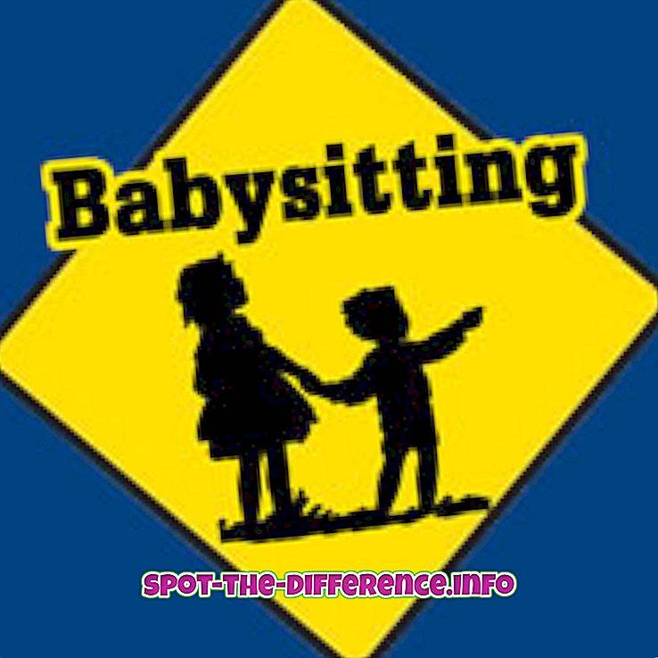 beliebte Vergleiche: Unterschied zwischen Babysitting und Kinderbetreuung