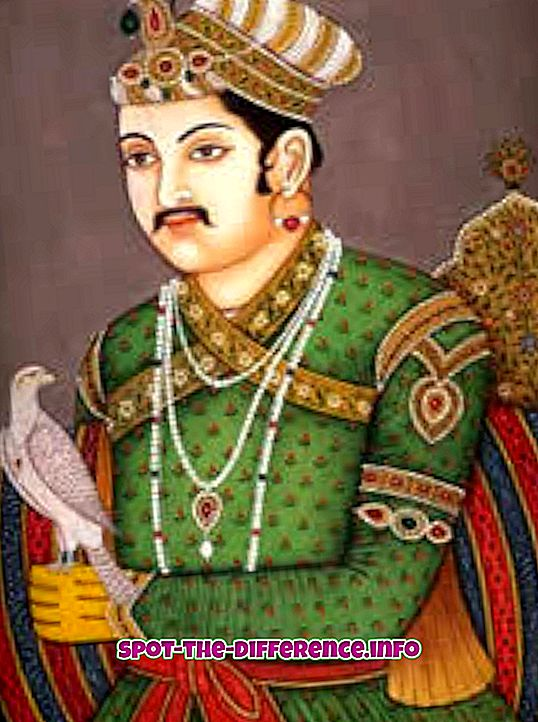 popüler karşılaştırmalar: Akbar ve Shahjahan arasındaki fark