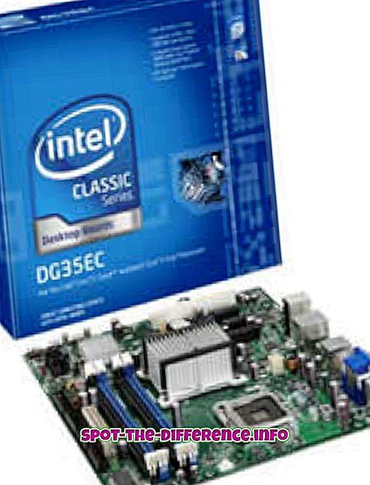 populaarsed võrdlused: Erinevus AMD ja Inteli emaplaatide vahel