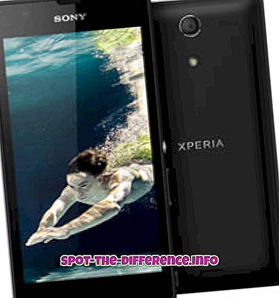 Forskjell mellom Sony Xperia ZR og Sony Xperia SP