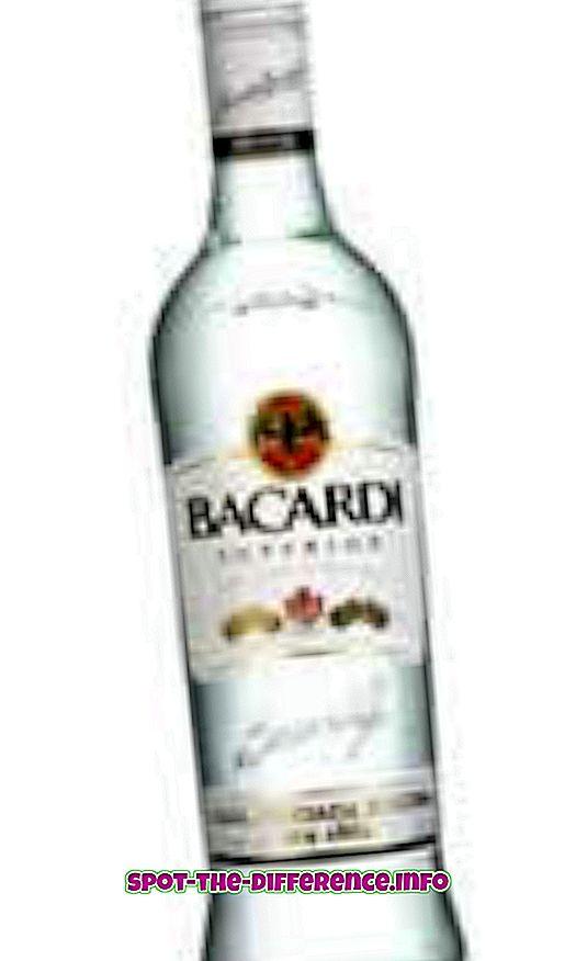 Forskel mellem White Rum og Dark Rum