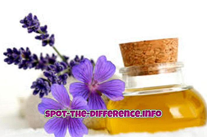 Forskjell mellom duftoljer og essensielle oljer