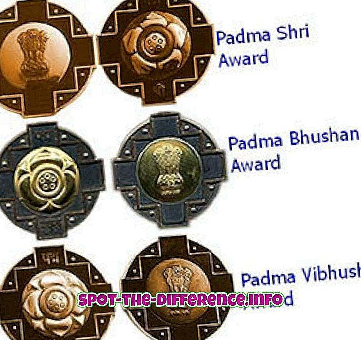 Verschil tussen Padma Shri, Padma Bhushan en Padma Vibhushan