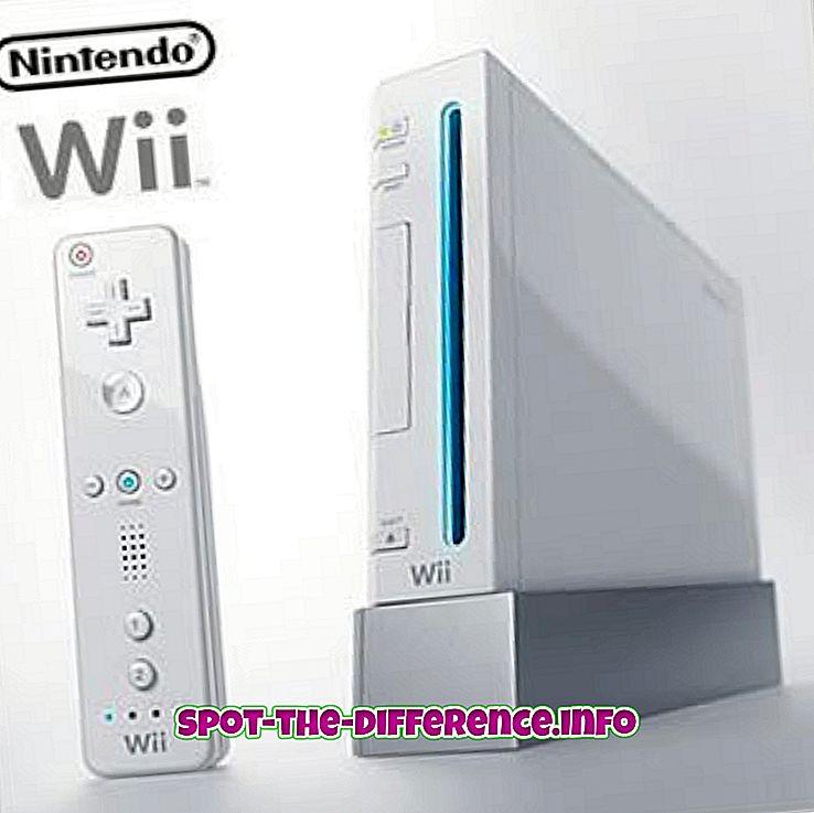 Rozdíl mezi Nintendo Wii a DS