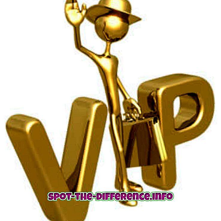 Rozdíl mezi VIP a VVIP