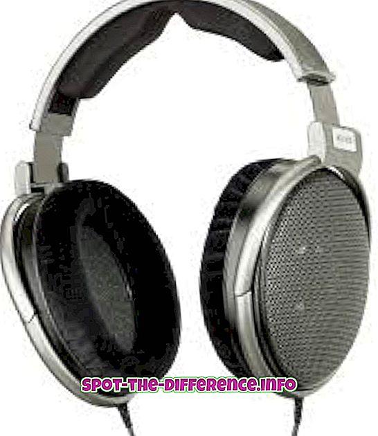 popularne usporedbe: Razlika između slušalica i slušalica