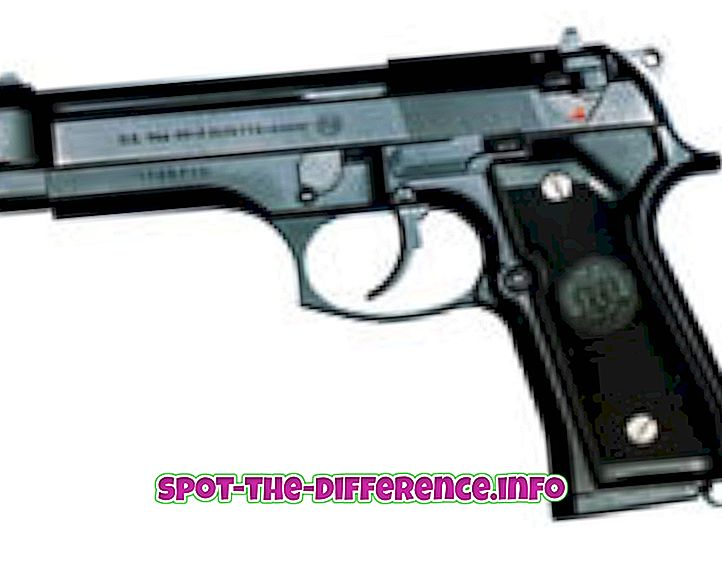 tautas salīdzinājumi: Starpība starp pistoli un šauteni