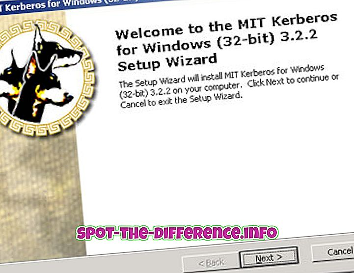 populære sammenligninger: Forskjellen mellom Kerberos v4 og Kerberos v5