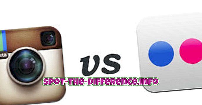 Rozdiel medzi nástrojmi Instagram a Flickr