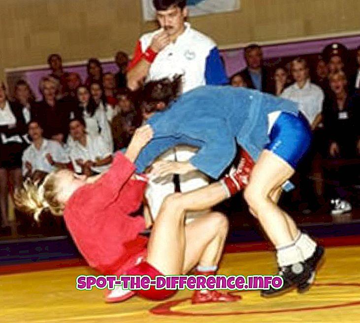 populære sammenligninger: Forskjell mellom Sambo og Wrestling