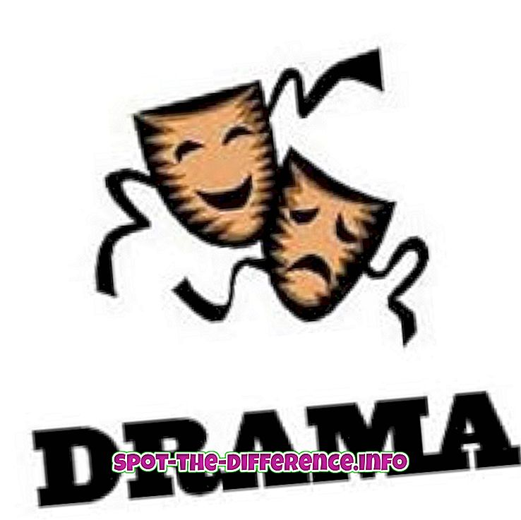 Het verschil tussen Drama en Roman
