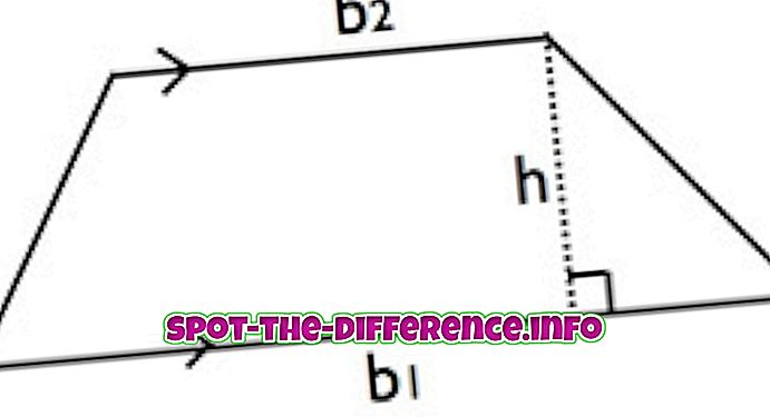Verschil tussen Trapezium en Parallelogram