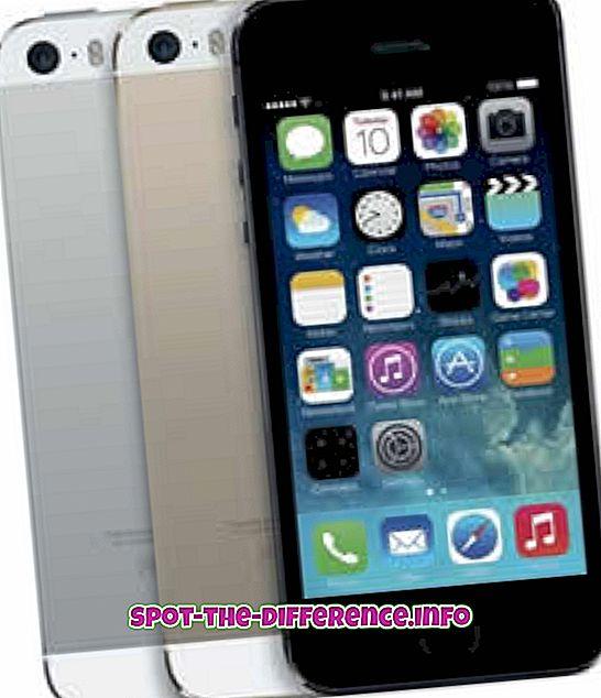 Erinevus iPhone 5S ja Samsung Galaxy S4 vahel