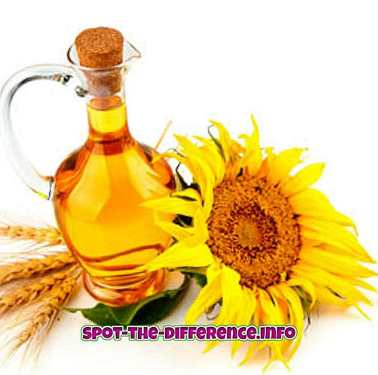Разлика между слънчогледово олио и масло от оризови брави