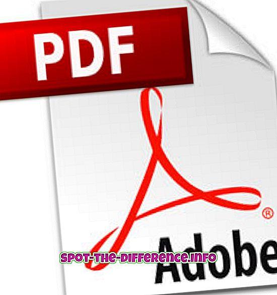 populære sammenligninger: Forskel mellem PDF og CDF