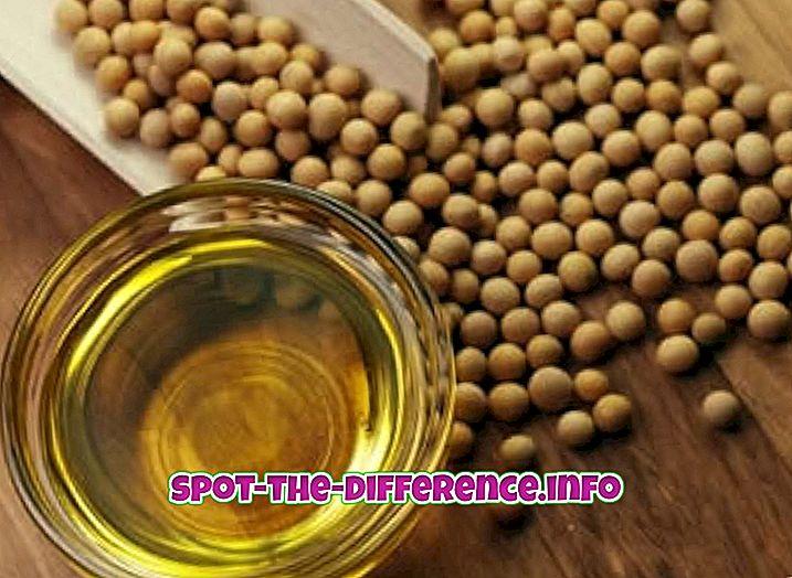 Forskjellen mellom soyabønneolje og palmolje