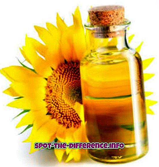 Sự khác biệt giữa dầu hướng dương và dầu cọ