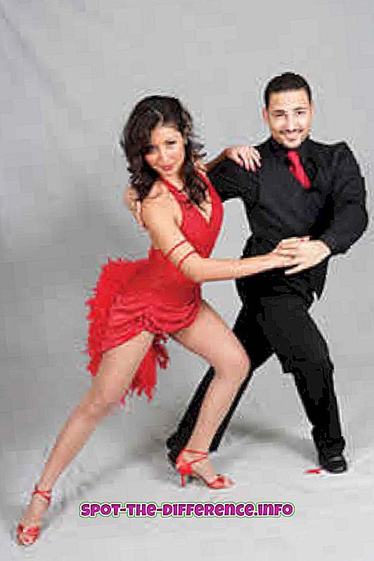 Différence entre la salsa et la danse de salon