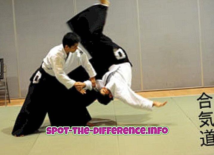 Erinevus Aikido ja Tai Chi vahel