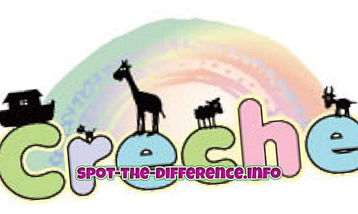 populaarsed võrdlused: Erinevus Creche ja päevahoiu vahel