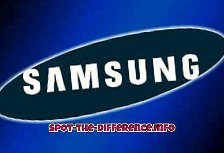 populárne porovnania: Rozdiel medzi Samsung a Sony