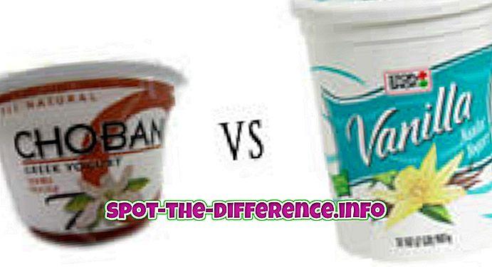 populære sammenligninger: Forskel mellem græsk yoghurt og almindelig yoghurt