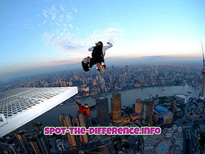 Différence entre le saut à la base et le saut à l'élastique