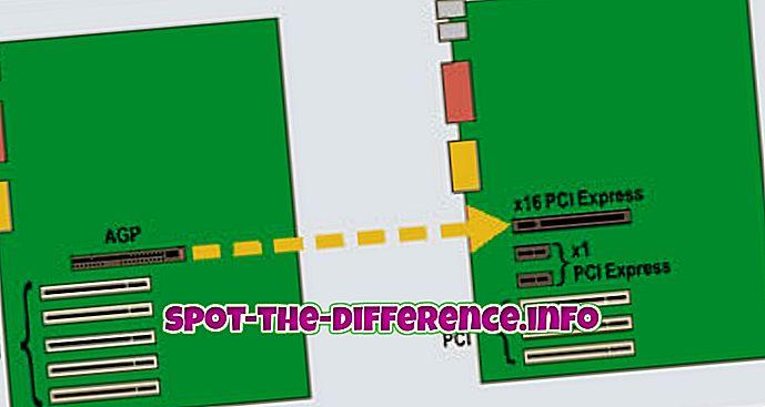 ความแตกต่างระหว่าง AGP และ PCI Express