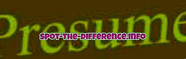comparaisons populaires: Différence entre supposer et présumer