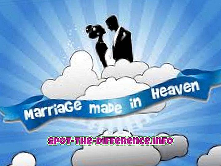 populaarsed võrdlused: Abielu ja pulmade vaheline erinevus