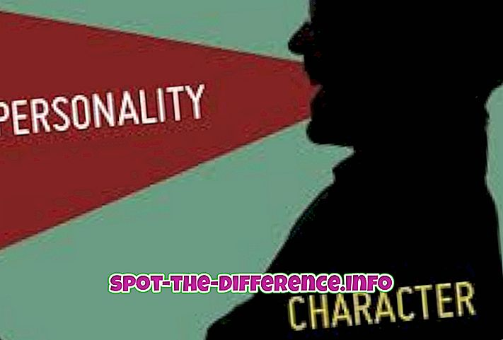 Sự khác biệt giữa tính cách và tính cách