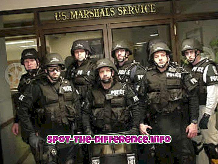 популарна поређења: Разлика између шерифа и маршала