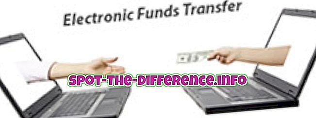 popularne usporedbe: Razlika između EFT i ACH
