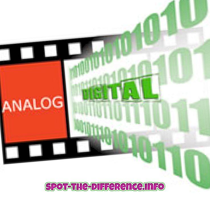 Rozdiel medzi analógovými a digitálnymi