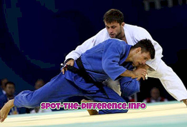 populaarsed võrdlused: Erinevus Judo ja Kung Fu vahel