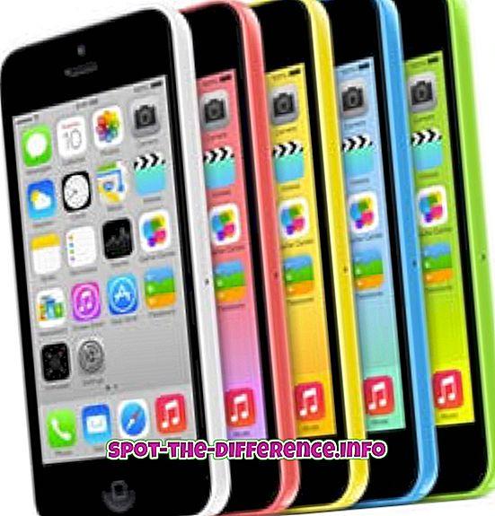 iPhone 5C와 iPhone 4S의 차이점