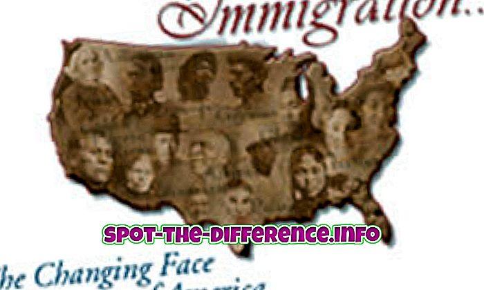 populaarsed võrdlused: Sisserändajate ja sisserändajate erinevus