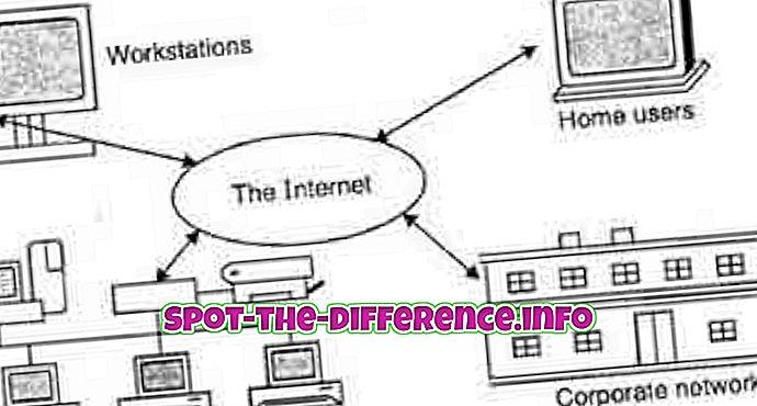 Perbedaan antara LAN dan Internet
