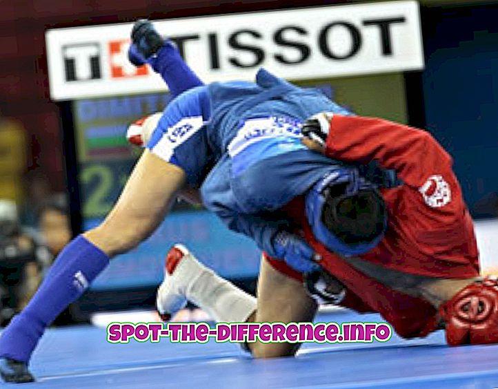 Sambo ve Judo arasındaki fark