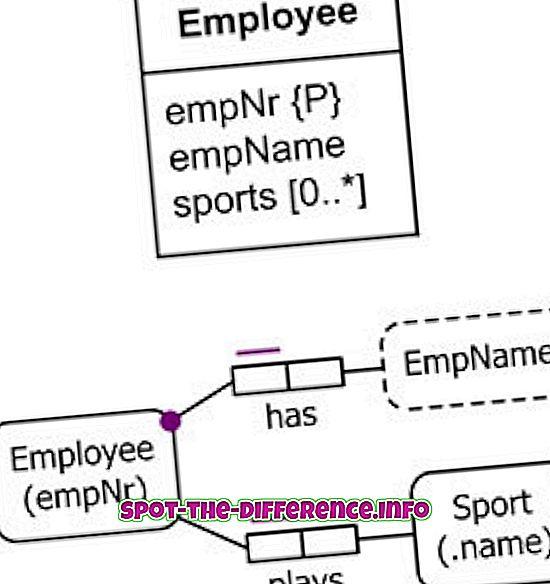 Atšķirība starp UML un ERD
